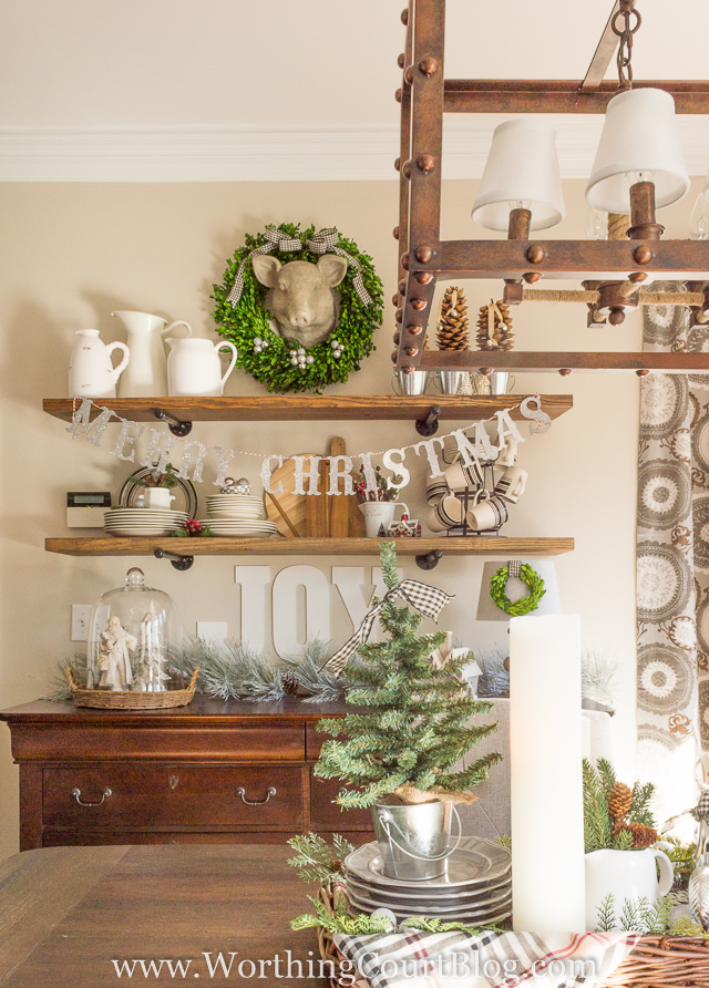 Worthing-Court-Farmhouse-Christmas-Kitchen Something To Talk About Link Party #48 LinkParty