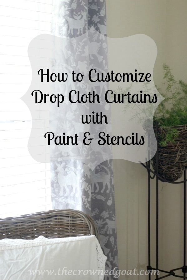 010716-22 How to Customize Drop Cloth Curtains with Paint & Stencils Decorating DIY