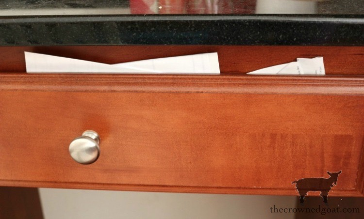 How-to-Organize-a-Kitchen-Desk-The-Crowned-Goat-1 How to Organize a Kitchen Desk Organization