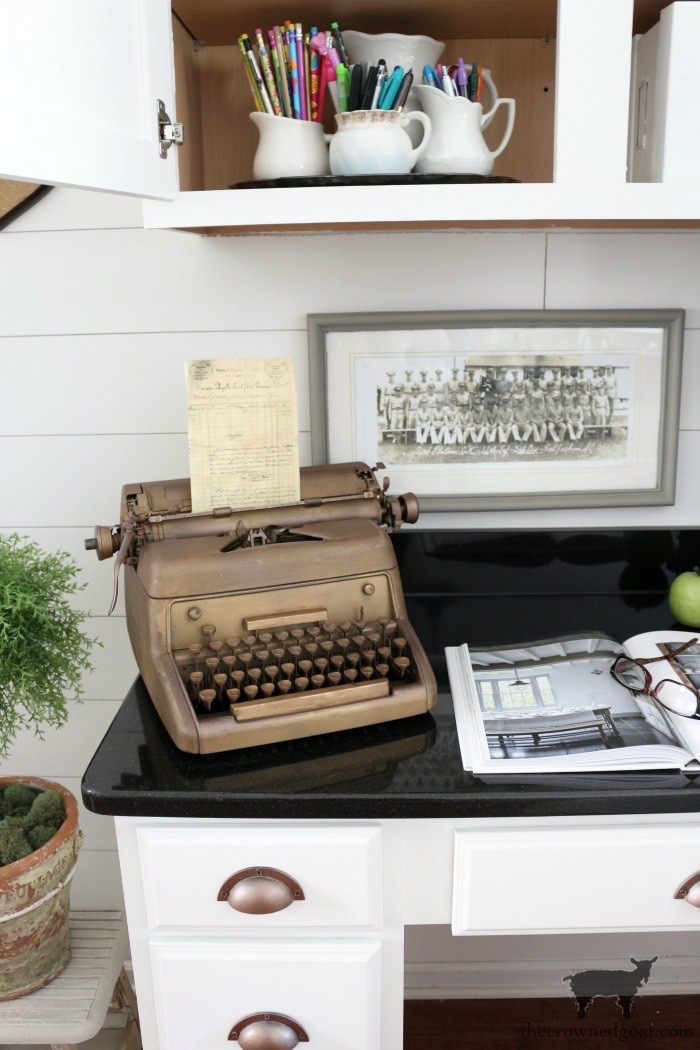 How-to-Organize-a-Kitchen-Desk-The-Crowned-Goat-15 How to Organize a Kitchen Desk Organization