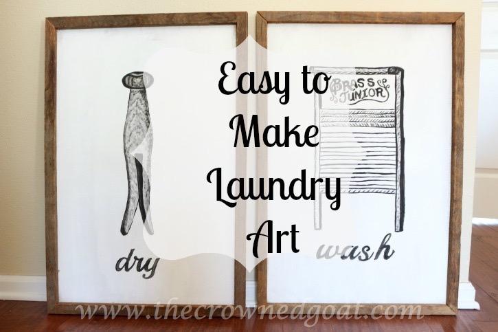 030916-18 How to Create Laundry Room Art DIY