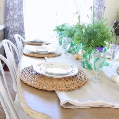 Spring Inspired Dining Room