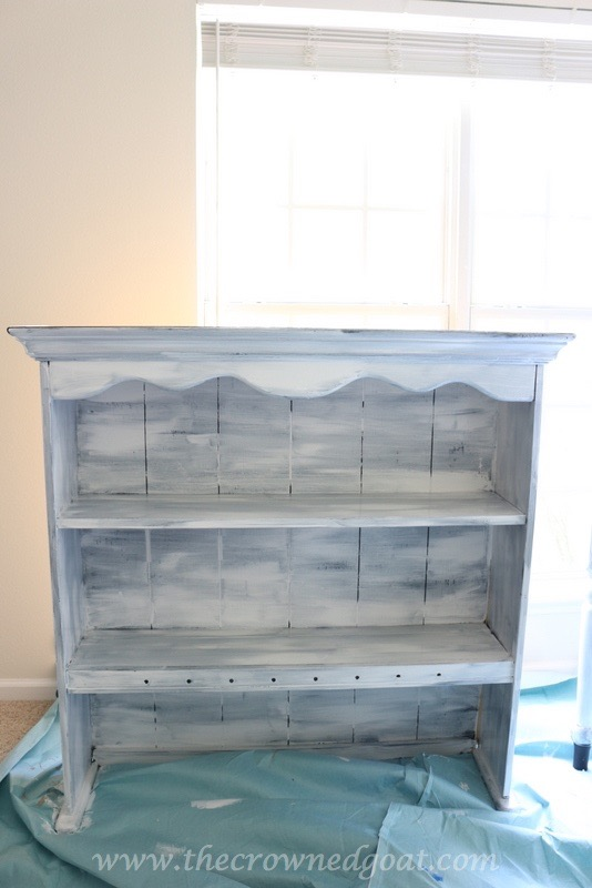 041316-4 Desk and Hutch Makeover DIY Painted Furniture