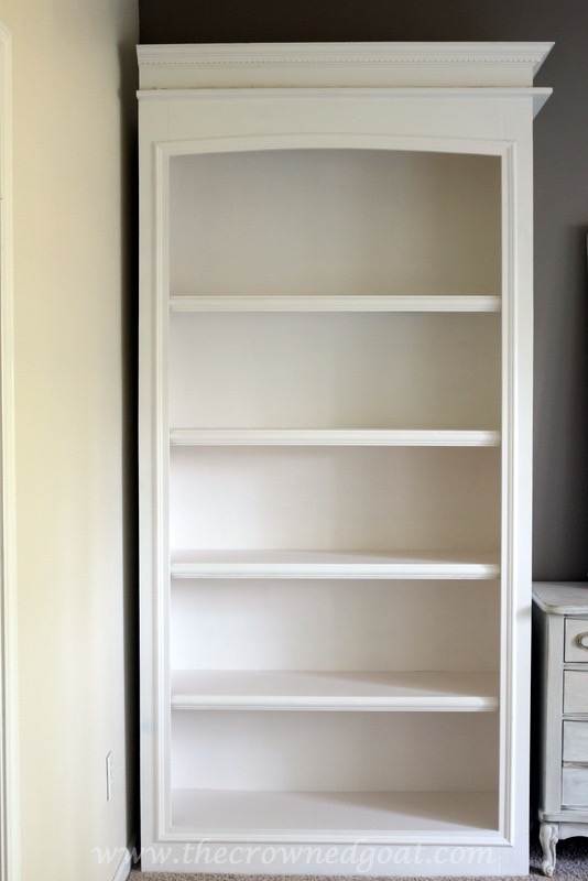 041816-12 Custom Office Bookcases DIY Painted Furniture