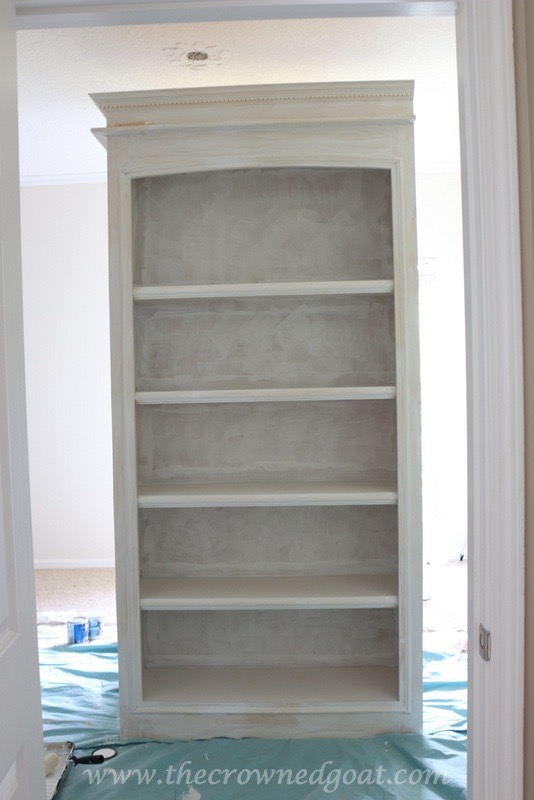 041816-8 Custom Office Bookcases DIY Painted Furniture