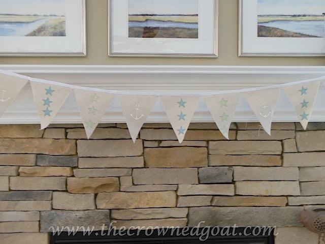 061516-91 Summer Inspired Mantel Decorating Holidays Summer