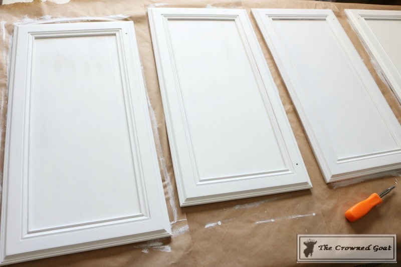 072216-19 Painting a Bathroom Cabinet with General Finishes Milk Paint DIY Painted Furniture