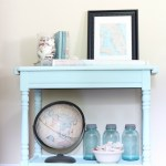Beach-Cottage-Inspired-Painted-Table-11 Painted Furniture