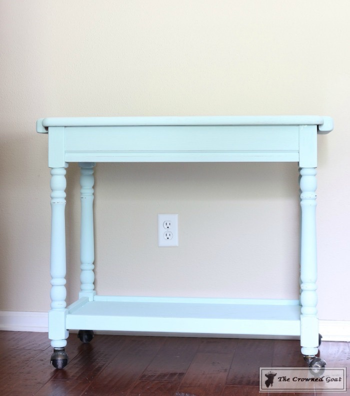 Beach-Cottage-Inspired-Painted-Table-7 Beach Cottage Inspired Table  Painted Furniture