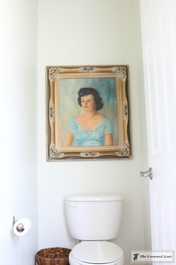 Budget-Friendly-Bathroom-Makeover-13-682x1024 Budget Friendly Bathroom Makeover Reveal  Decorating DIY Painted Furniture