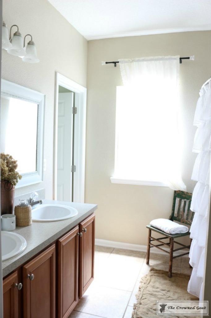 Budget-Friendly-Bathroom-Makeover-3-682x1024 Budget Friendly Bathroom Makeover Reveal  Decorating DIY Painted Furniture