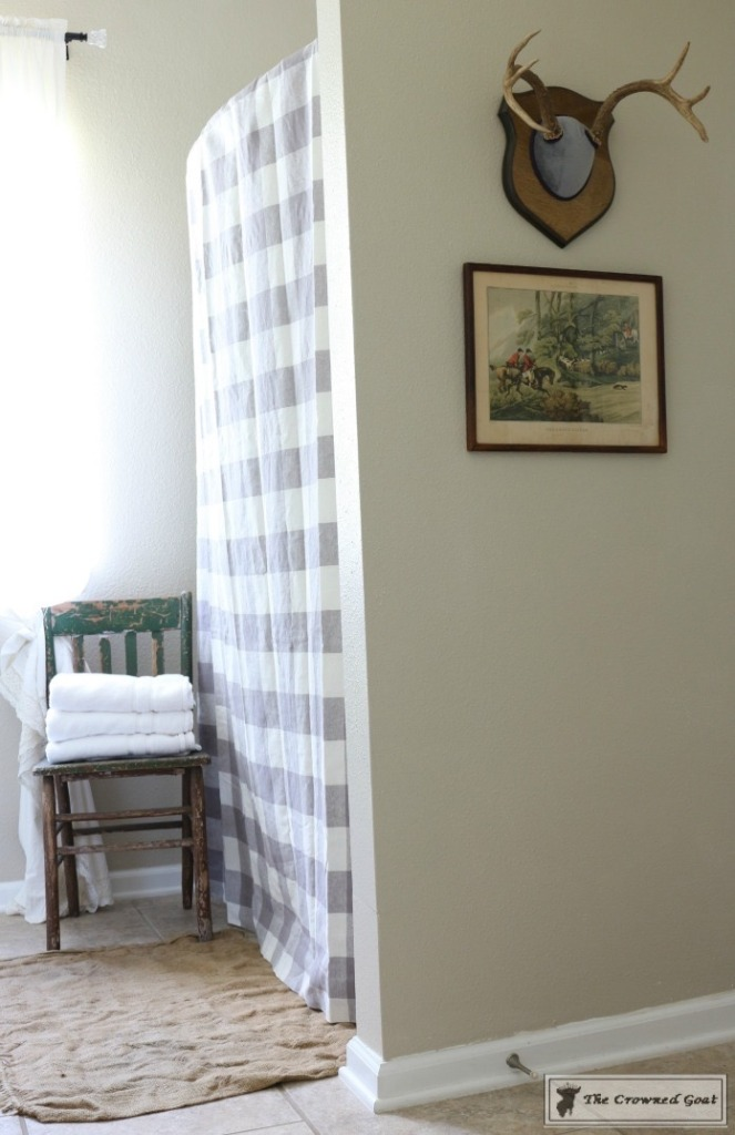 Budget-Friendly-Bathroom-Makeover-8-663x1024 Budget Friendly Bathroom Makeover Reveal  Decorating DIY Painted Furniture