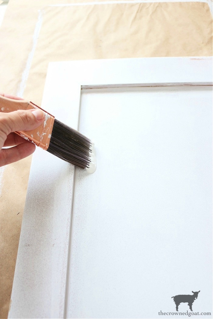 How-to-Paiint-a-Bathroom-Cabinet-with-Milk-Paint-The-Crowned-Goat-18 How to Paint a Bathroom Cabinet with Milk Paint DIY One_Room_Challenge Painted Furniture