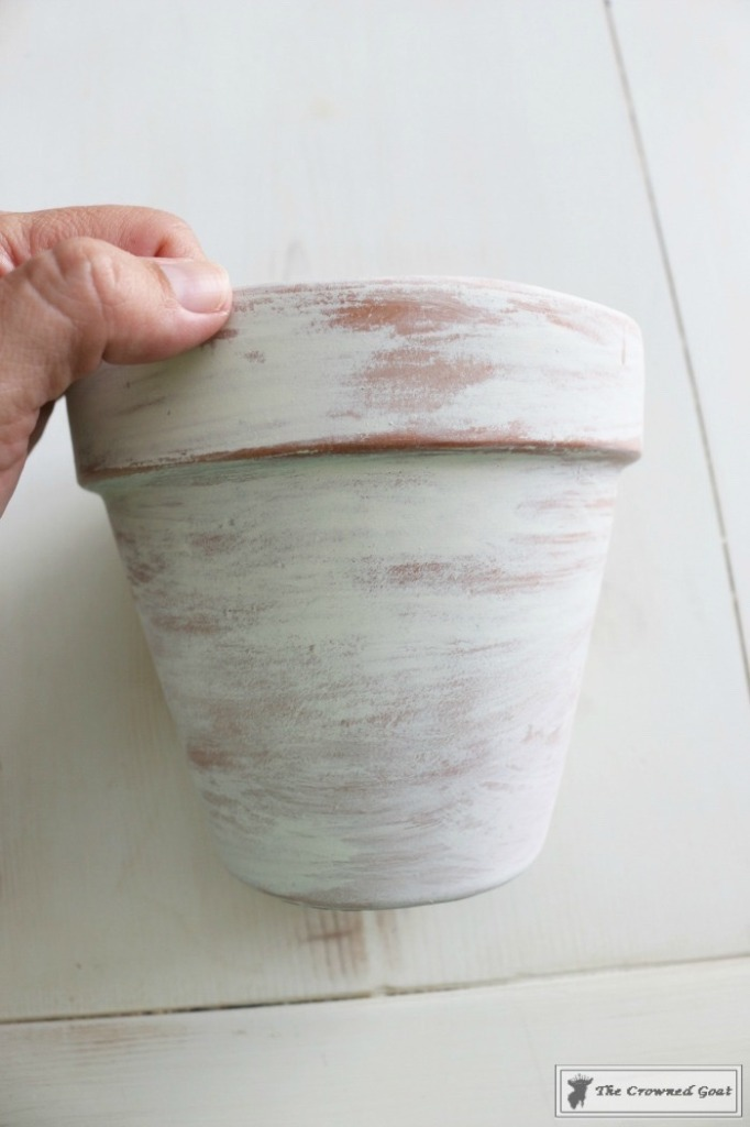 White Washing Terra Cotta Pots with Chalk Paint-7