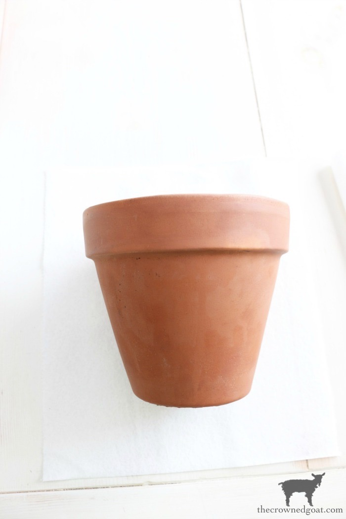 White-Washing-Terracotta-Pots-with-Chalk-Paint-The-Crowned-Goat-4 White Washing Terra Cotta Pots with Chalk Paint Crafts Decorating DIY