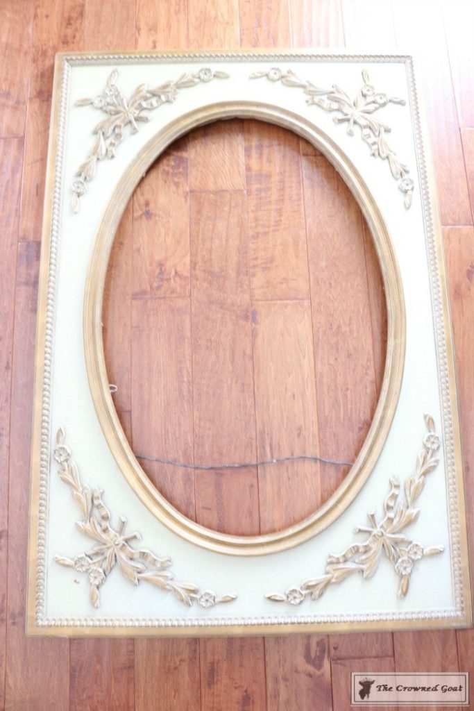 Antique mirror frame Circular Ascpmirrormakeover1683x1024 Ascp Vintage Mirror Frame Makeover Diy Painted Makeupbyroseinfo Ascp Vintage Mirror Frame Makeover The Crowned Goat