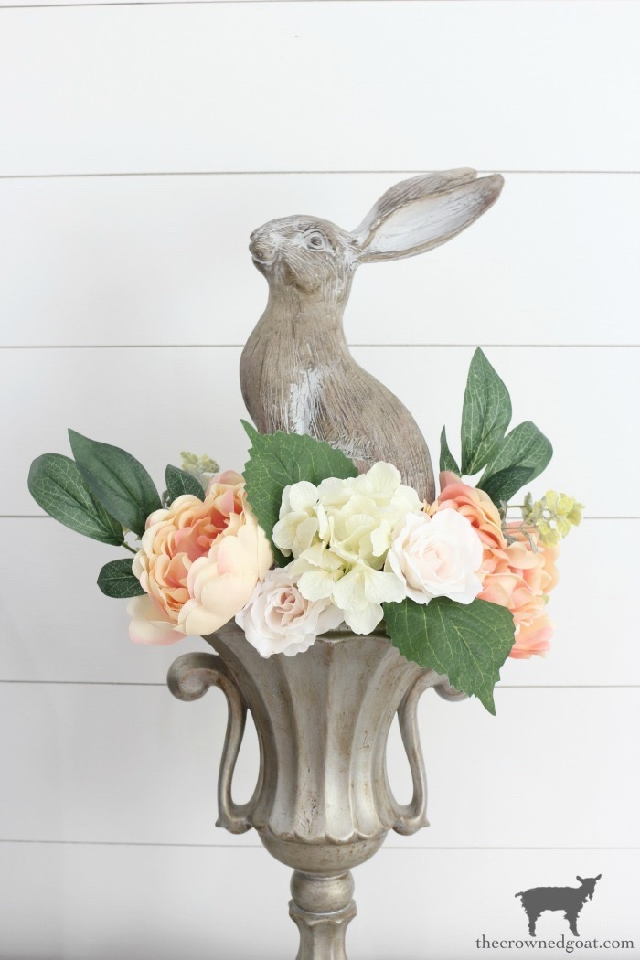 Bunny-Urn-Centerpiece-The-Crowned-Goat-5 How to Create a Vintage Trophy Finish Decorating DIY