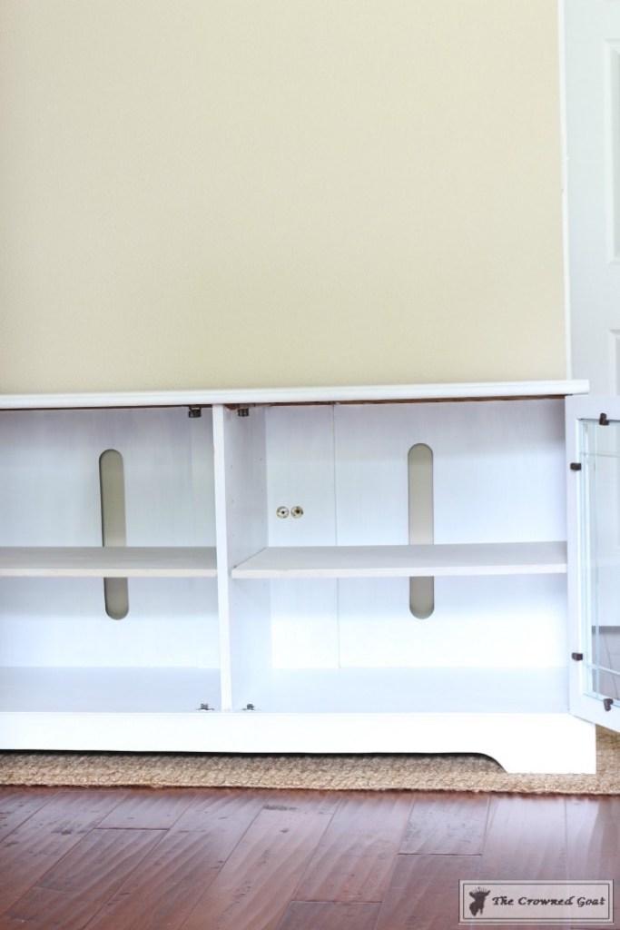 Snow-White-Media-Cabinet-Makeover-9-683x1024 Media Cabinet Makeover in GF Snow White Painted Furniture