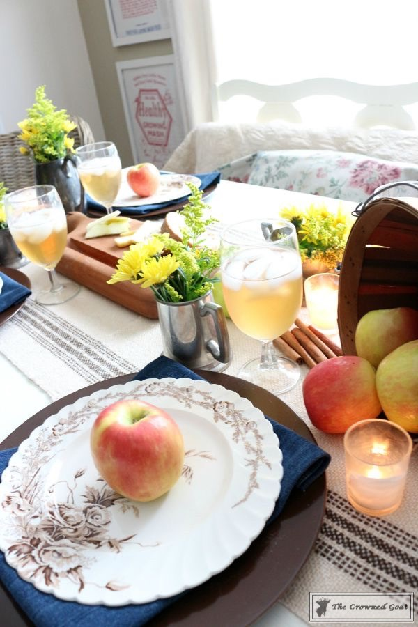 Fall-Apples-Home-Tour-11 Decorating for Fall with Apples Decorating DIY Holidays