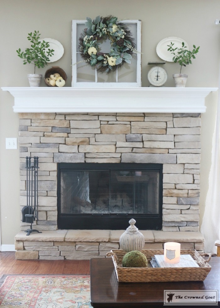 Fall-Mantel-Decorating-6 The Busy Girl's Guide to Fall Decorating: Mantel & Living Room Decorating DIY Holidays