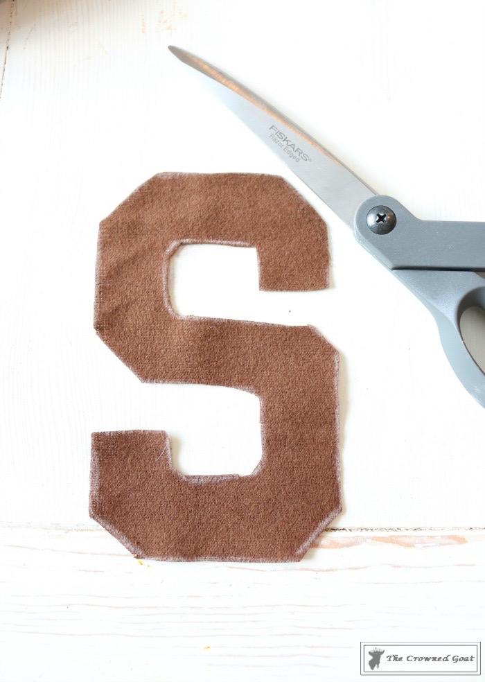 No-Sew-Varsity-Letter-Pillow-6 No Sew Varsity Letter Pillow DIY