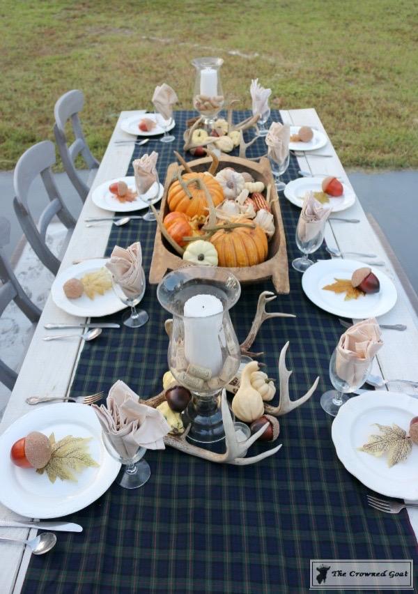 Outdoor-Fall-Tablescape-7 Outdoor Fall Tablescape Decorating DIY Fall Holidays