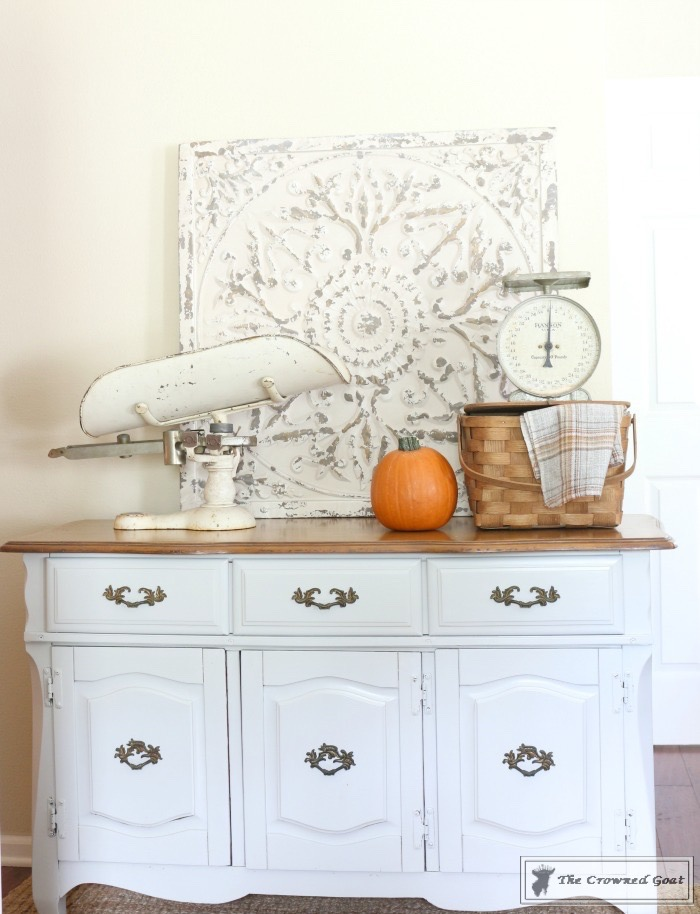 Sea-Gull-Gray-Buffet-Makeover-11 Buffet Makeover in Sea Gull Gray DIY Painted Furniture