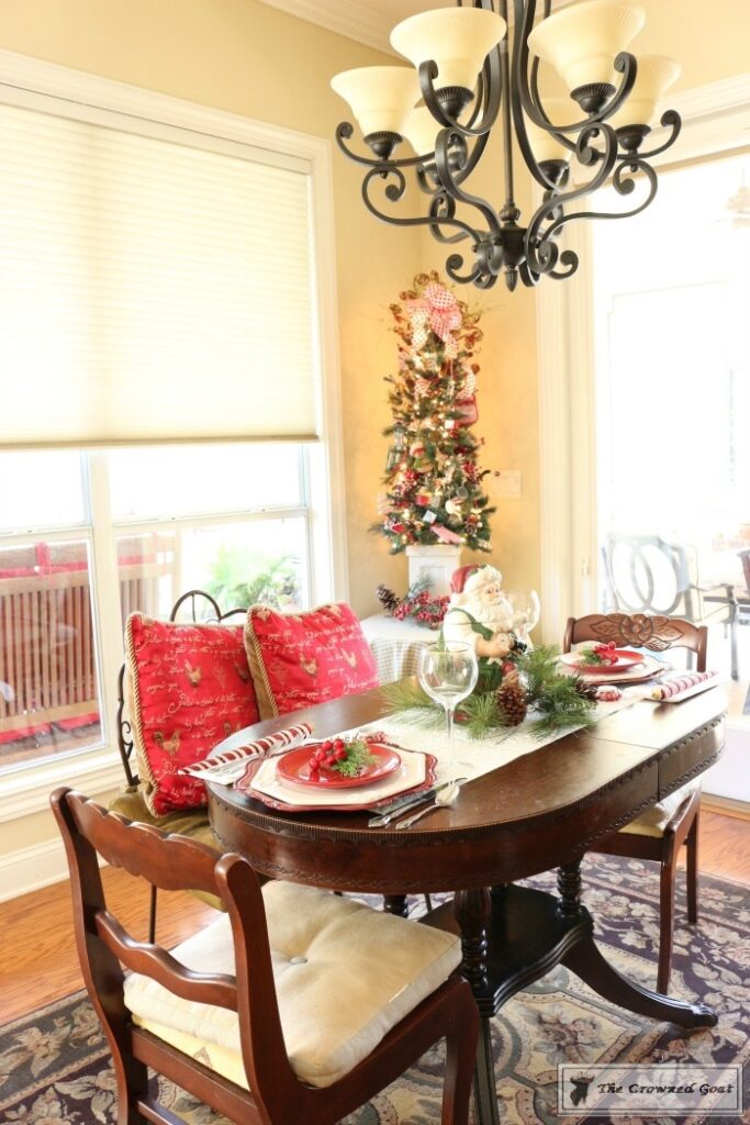 Gingerbread-Inspired-Kitchen-and-Breakfast-Nook-14-683x1024 Gingerbread Inspired Breakfast Nook and Kitchen Tour Christmas Decorating Holidays