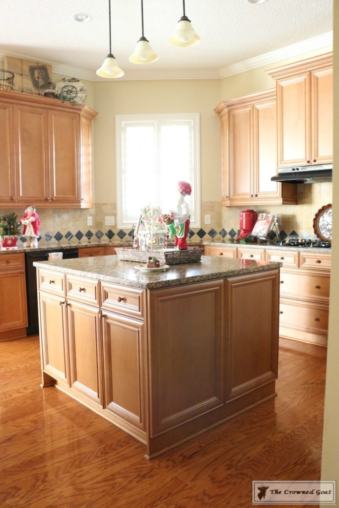 Gingerbread-Inspired-Kitchen-and-Breakfast-Nook-2-683x1024 Gingerbread Inspired Breakfast Nook and Kitchen Tour Christmas Decorating Holidays