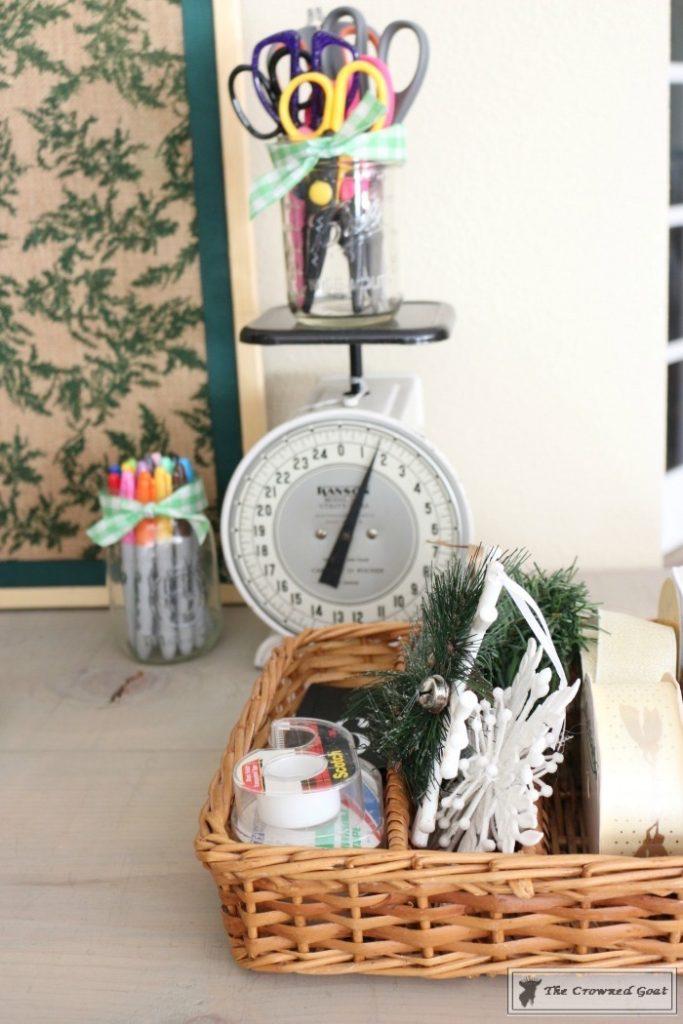 Holiday-Gift-Wrap-Station-4-683x1024 Holiday Gift Wrapping Station Christmas DIY Holidays