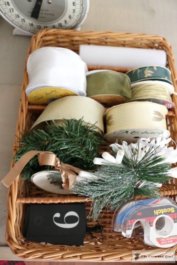 Holiday-Gift-Wrap-Station-5-683x1024 Holiday Gift Wrapping Station Christmas DIY Holidays