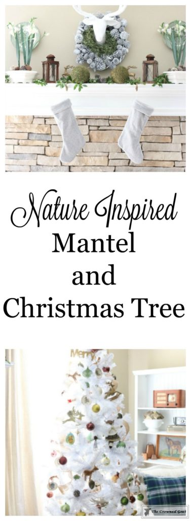 Nature-Inspired-Christmas-Mantel-19-377x1024 Nature Inspired Mantel and Christmas Tree Christmas Decorating DIY Holidays