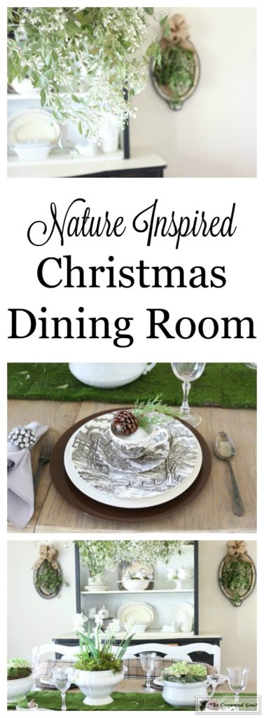 Simple-Christmas-Dining-Room-1-377x1024 Simple Christmas Decorations for the Dining Room Christmas Decorating DIY Holidays