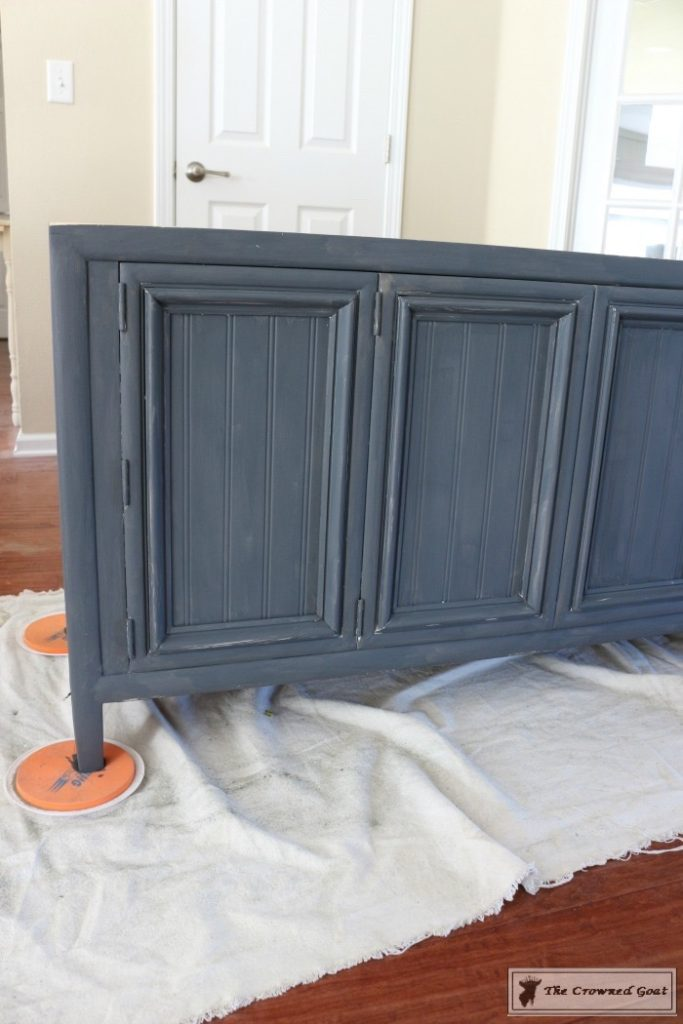 Cottage-Console-to-Boho-Chic-Media-Cabinet-Makeover-4-683x1024 Boho Chic Inspired Media Cabinet Makeover Decorating DIY