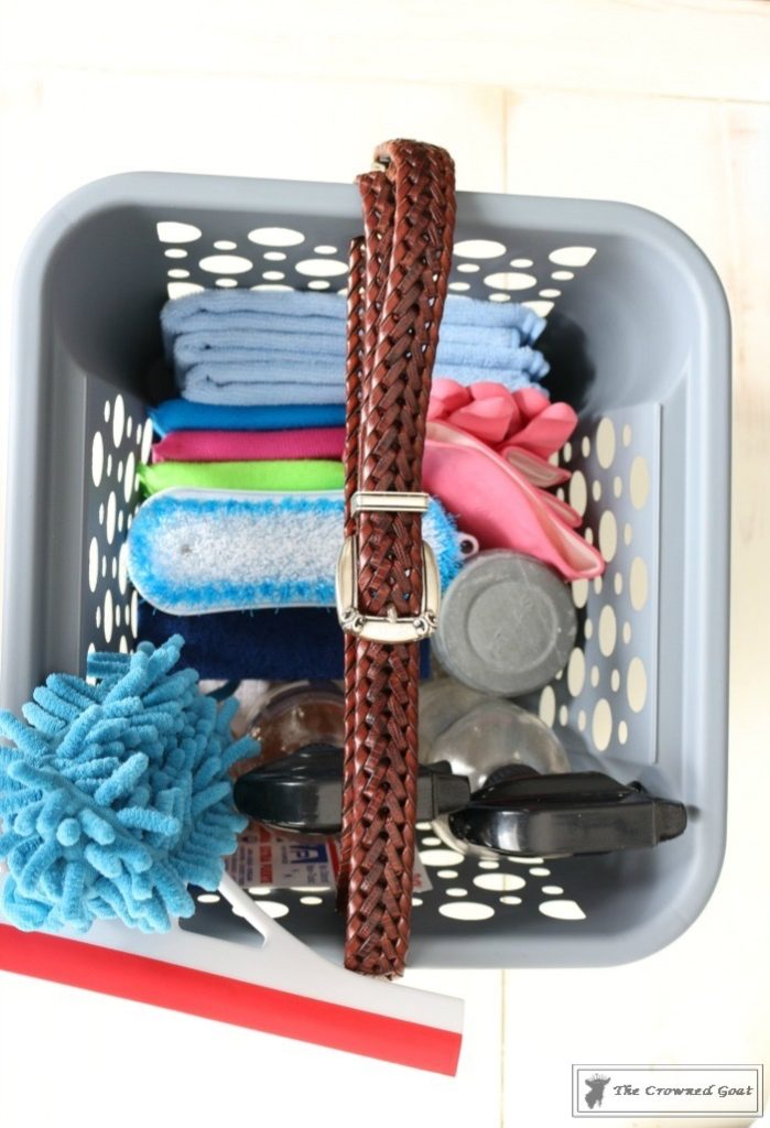 DIY Cleaning Caddy-The Crowned Goat-13
