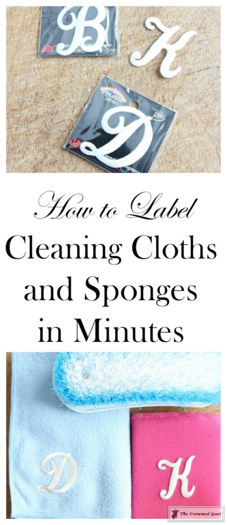 Easily-Label-Cleaning-Sponges-1-443x1024 How to Label Your Cleaning Sponges in Minutes DIY Organization