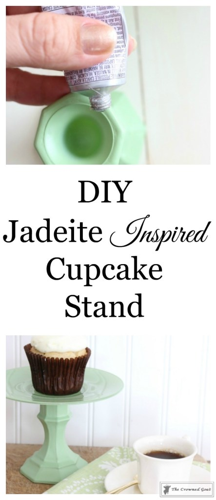 Faux-Jadeite-Cupcake-Stands-1-443x1024 Jadeite Inspired Cupcake Stands Crafts DIY
