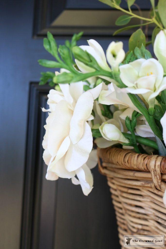 How-to-Make-a-Spring-Flower-Basket-7-683x1024 Spring Front Door Flower Basket DIY