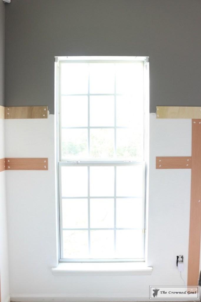 Budget-Friendly-Window-Trim-2-683x1024 A $30 Window Upgrade DIY One_Room_Challenge