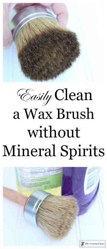 Easily-Clean-Wax-Brushes-1-443x1024 Cleaning Wax Brushes with Ease DIY Painted Furniture