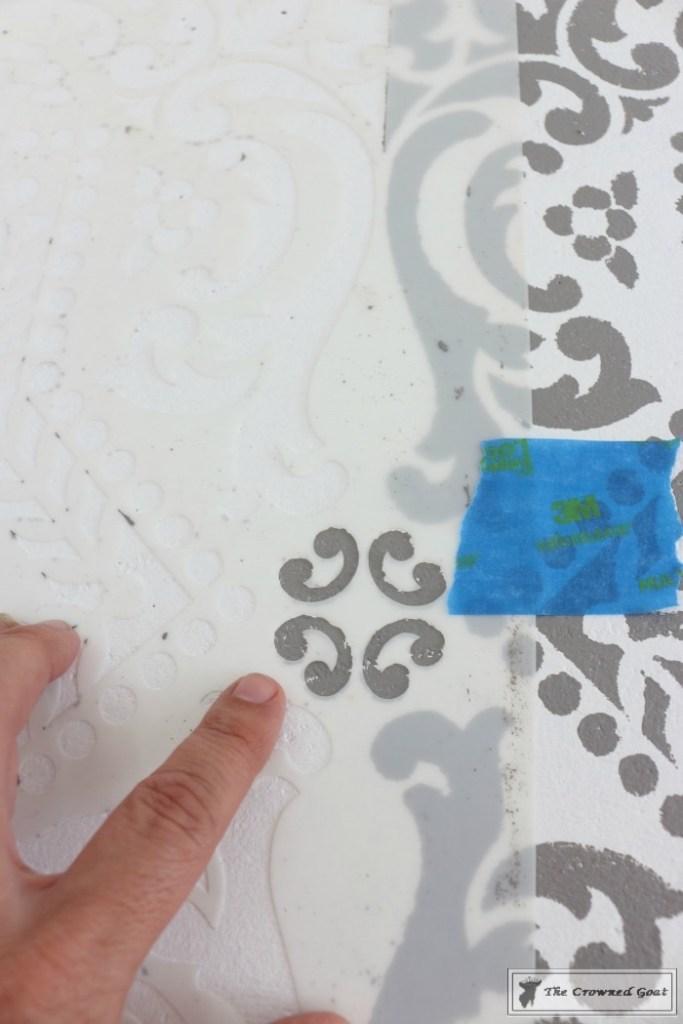 Easily Stencil a Concrete Floor-9