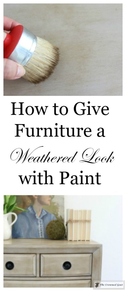 How-to-Weather-Furniture-with-Paint-1-443x1024 How to Give Furniture a Weathered Look with Paint DIY Painted Furniture