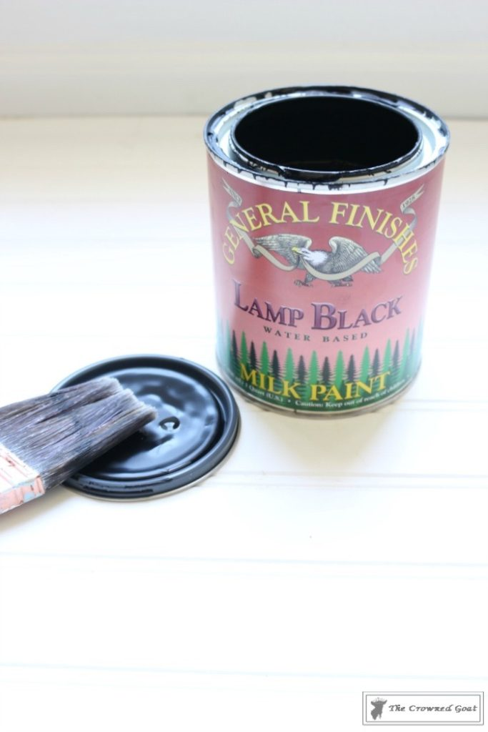Lamp-Black-Painted-Dresser-5-683x1024 Painted Dresser in General Finishes Lamp Black DIY One_Room_Challenge Painted Furniture
