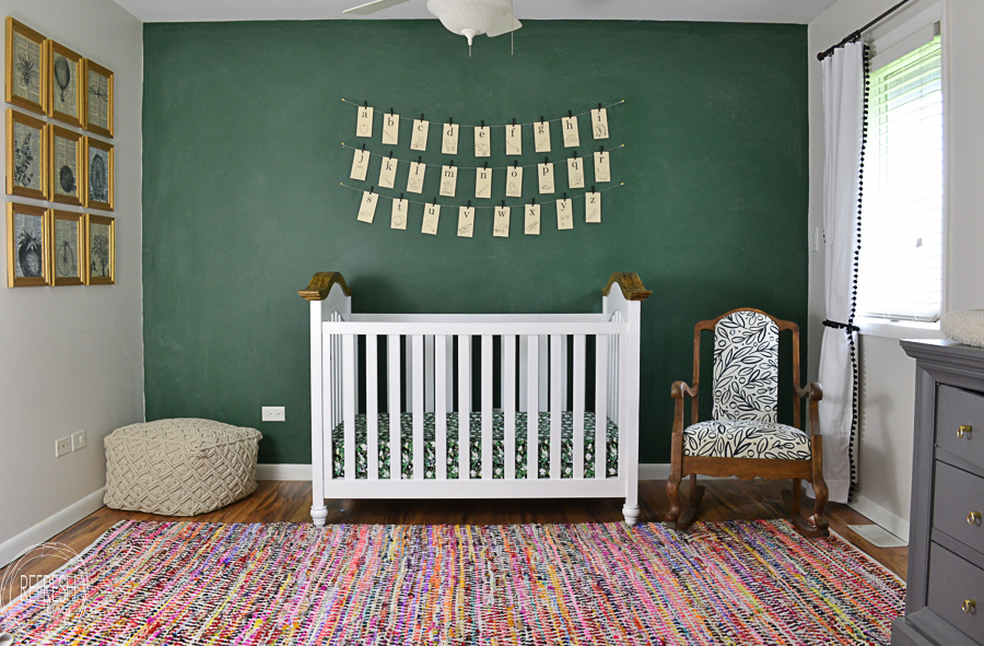 Refresh-Living-vintage-green-chalkboard-wall-in-schoolhouse-nursery-design-Refresh-Living Spring 2017 ORC Participants Favorites One_Room_Challenge