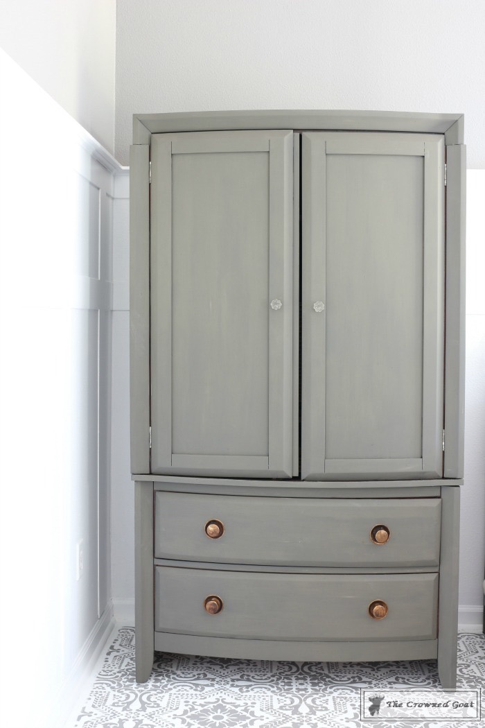 TV Armoire Makeover 4