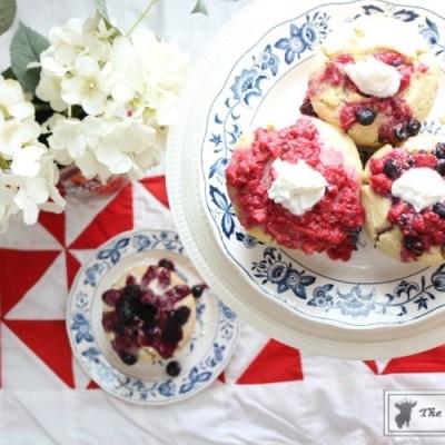 Mini Patriotic Bundt Cakes