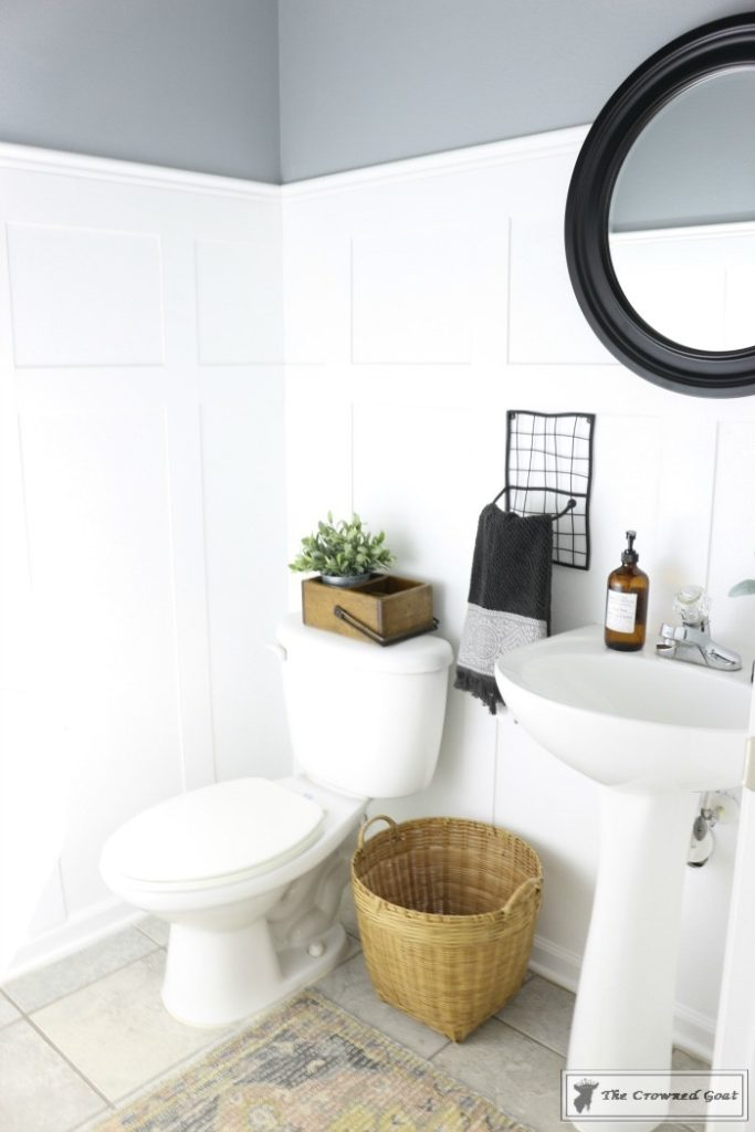 Adding-Board-and-Batten-to-the-Half-Bathroom-18-683x1024 Half-Bath Makeover Decorating DIY