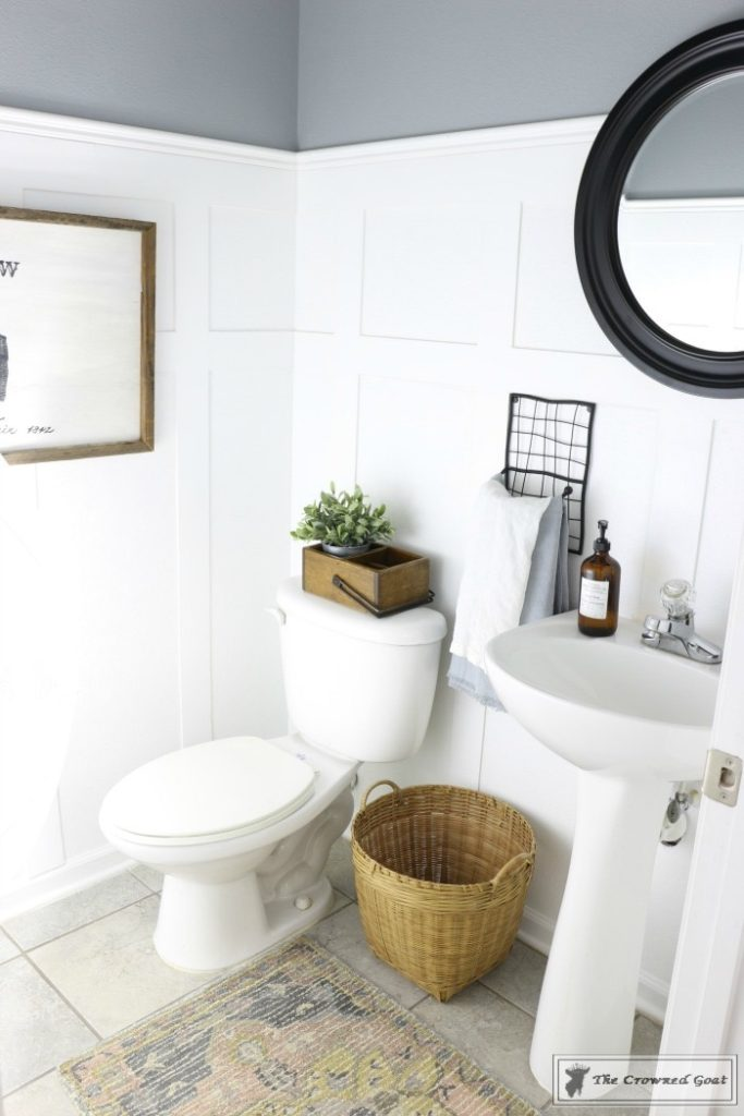 Adding-Board-and-Batten-to-the-Half-Bathroom-19-683x1024 Half-Bath Makeover Decorating DIY