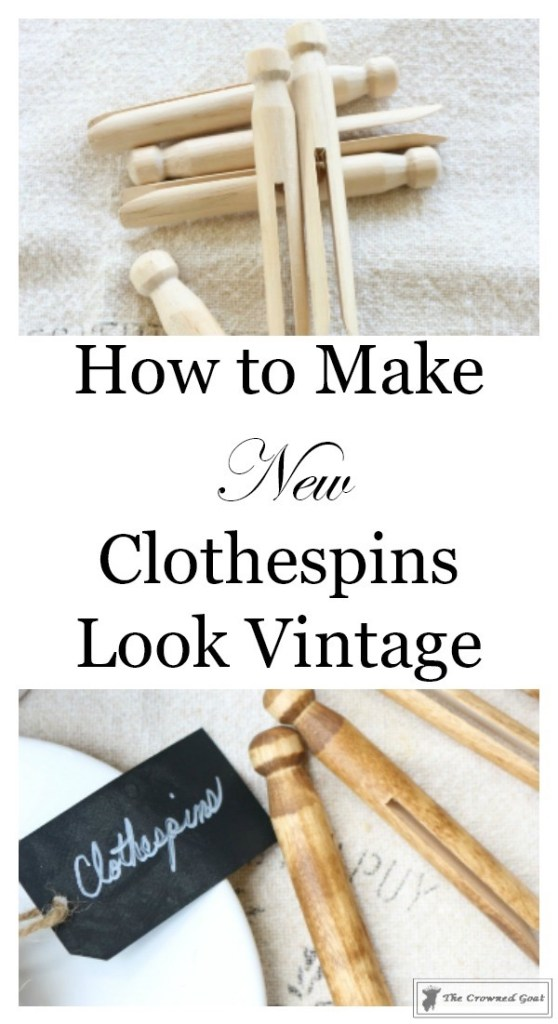 How-to-Easily-Age-New-Clothespins-3-558x1024 The Easiest Way to Age New Clothespins Decorating DIY