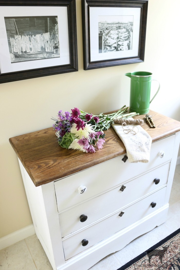 French-Country-Laundry-Room-Makeover-11 French Country Laundry Room Makeover Decorating DIY Painted Furniture